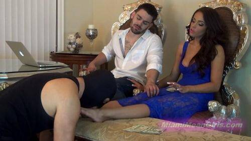 Cuck pays for our vacation [FullHD, 1080p] [MiamiMeanGirls.com] - Femdom