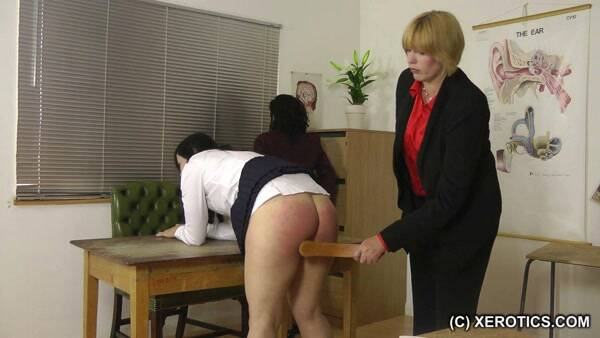 HDSpank.com/xErotics.com - Fighting Schoolgirls (Spanking) [HD, 720p]