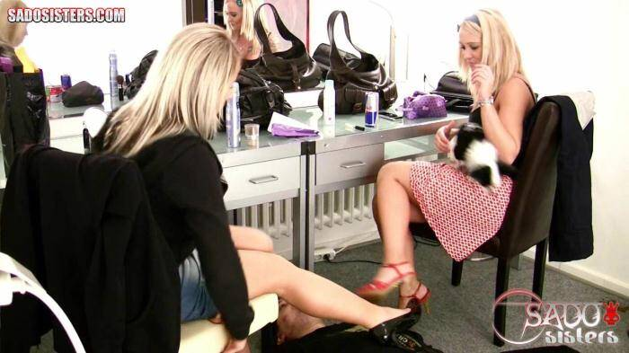 SadoSisters.com - Layla, Jane - Humiliating our house slave while we prepare for party   [HD 720p]