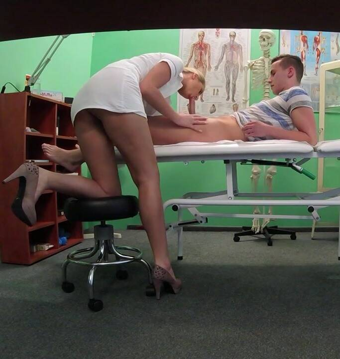 F@akeHOspital - Bianca, Croco, Nikky - Stud caught giving nurse a creampie  [HD 720p]