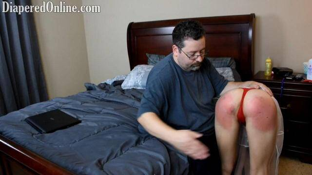 DiaperedOnline.com - Mia Spanked Diapered For Skyping [HD, 720p]