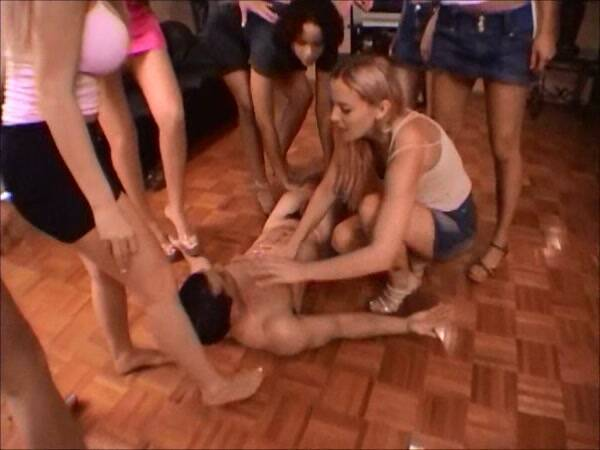 Female Domination - 8 Girls - Group Femdom Piss and Spit (EXTREME) [SD, 480p]