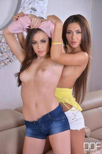 EuroGirlsOnGirls.com [Lou and Alexis Brill - Two Girls And One Toy - Double Dong Does Them Both! Hot Young Lesbians!] SD, 540p)
