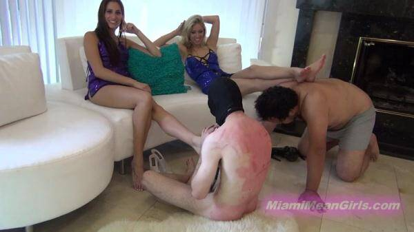 Jannifer, Cindi and Beverly - Worship your tormentors feet (MiamiMeanGirls.com) [FullHD, 1080p]