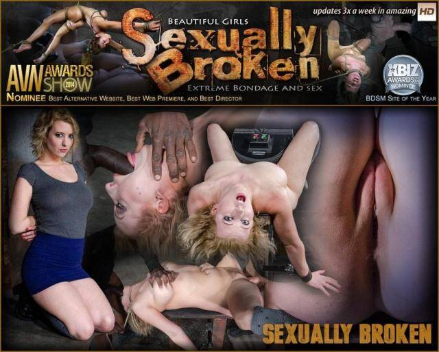 SexuallyBroken.com - Banging blonde Cherry Torn sybian blasted and roughly fucked by BBC with brutal deepthroat! [SD, 540p]