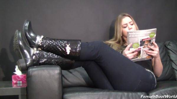 Foot Fetish: Shine My Used Boots (27.01.2016/HD)