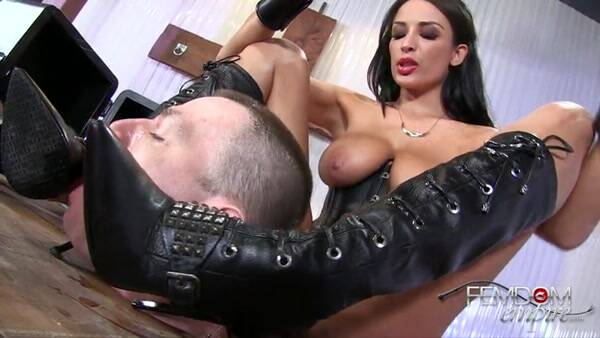 My Human Spittoon - Boot Worship [SD] - Female Domination