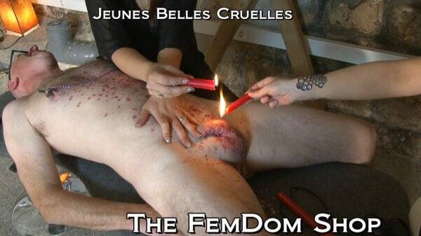 Young-Goddess-Club.com - Goddess Stephanie, Goddess Demonia - Underground Dungeon - Extreme Wax  [HD 720p]