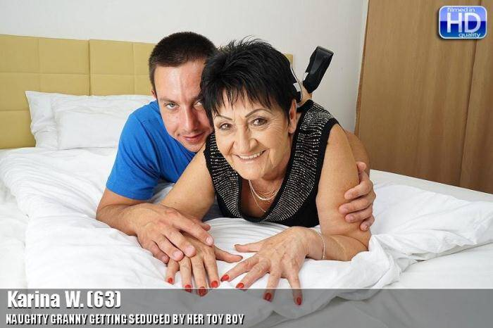 Karina W. (63) - Hard sex with boy! [SD, 540p] - Mature.nl