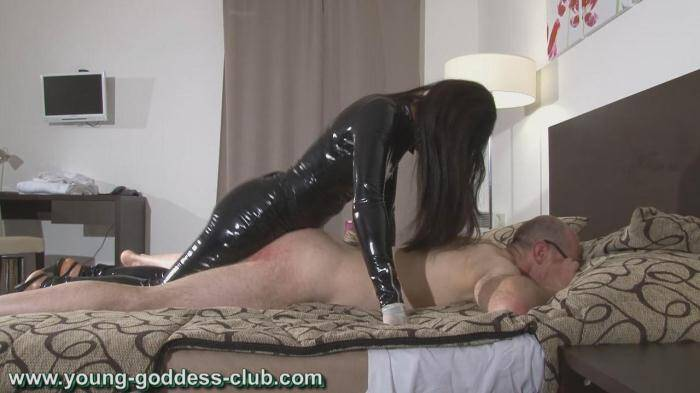 Young-goddess-club.com - GODDESS RACHEL AND SLAVE RICHARD - YOUNG FEMDOM 3 (Strapon) [HD, 720p]