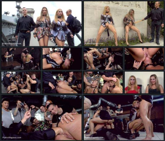 Isabella Clark and Mandy - Three Dicks, Two Lesbians and One Anal Fisting [PublicDisgrace, Kink] 540p