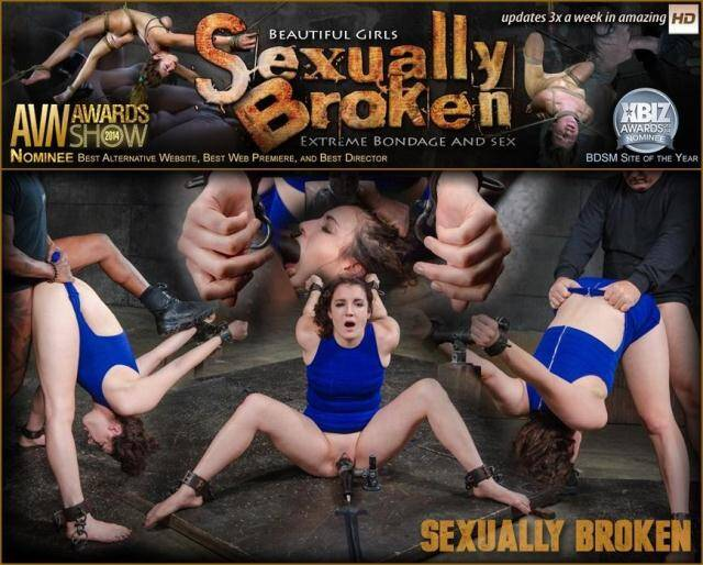 SexuallyBroken.com - Wholesome starlet Endza Adair bound and used without mercy in metal bondage, BBC pounding! [SD, 540p]