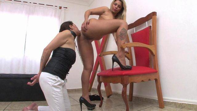 newMFX.com - Worshipping Goddess Diana's Ass from her girl slave [FullHD, 1080p]