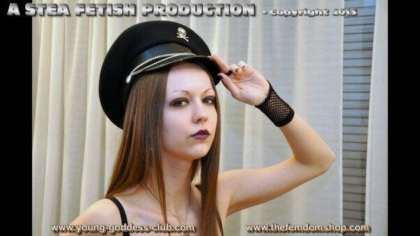 Young-Goddess-Club.com - Goddess Arella, Slave Richard - The Little Pest (ballbusting Action)  [HD 720p]