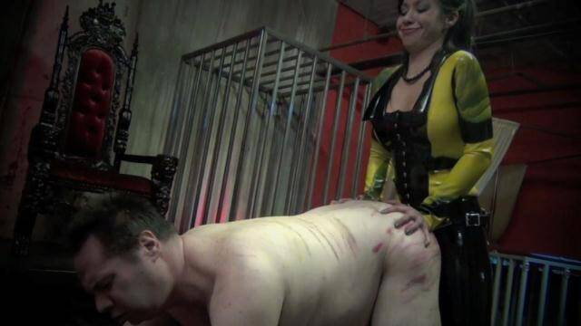 EXTREME FEMDOM - Cruel Mistress Asian fucked in the ass hole fat old slave [HD, 720p]