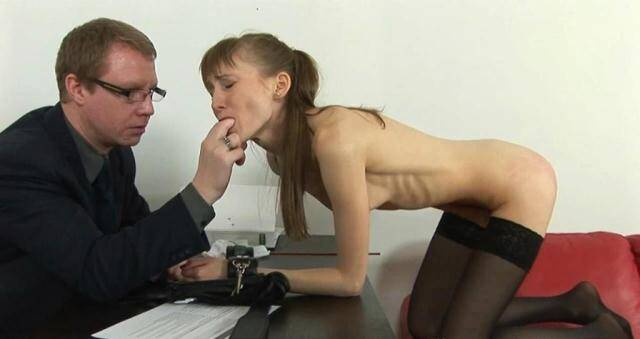 Anorexic - Skinny Ukrainian Vasilisa - Spank Teen Girl [FullHD, 1080p]
