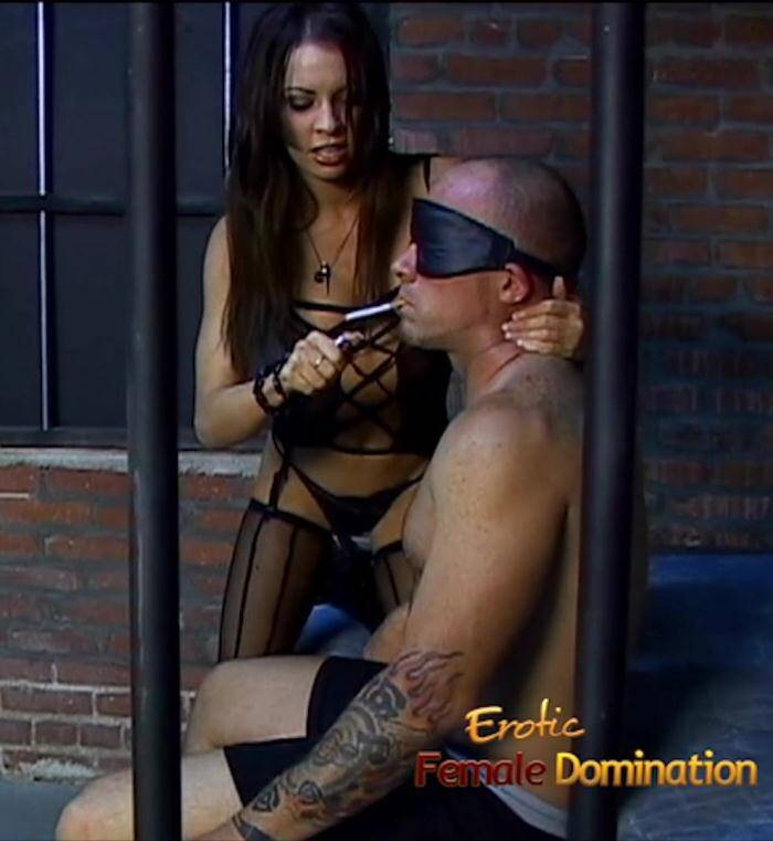 EroticFemaleDomination.com - Vanessa Lane - Tattooed Slave Dominated In A Jail Cell  [FullHD 1080p]