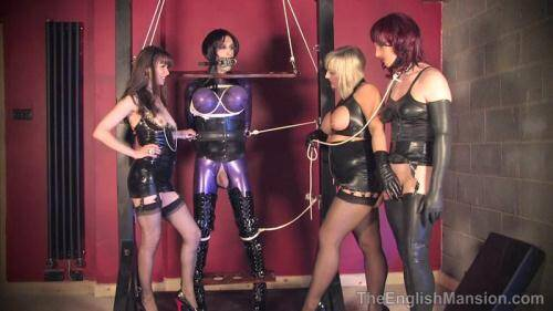 Femdom [Miss Kinky and Lady Nina - Frame Bound - Part 2 - Group Domination] HD, 720p)
