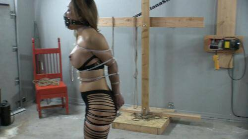 Zip Tied Live Part 1 - Breaking in the New Muzzle Gag [FullHD, 1080p] [Asianastarr.com] - Bondage