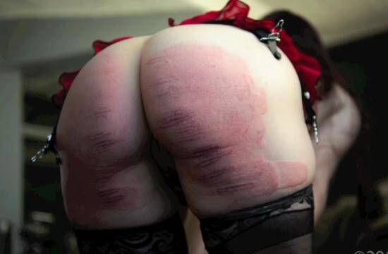 Bliss Paddled Purple & Caned for Disobedience - Hard Spanked! [Spanking] 540p