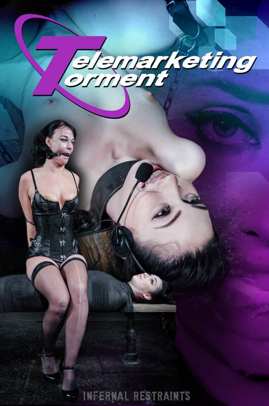 InfernalRestraints.com  - Aria Alexander, London River -  Telemarketing Torment   [HD 720p]