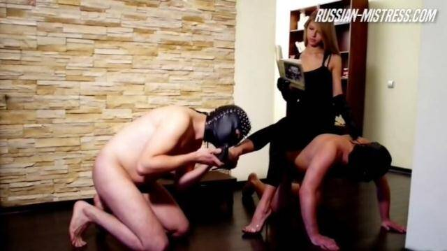 Russian-Mistress.com - Abby and Her Two Slaves [HD, 720p]