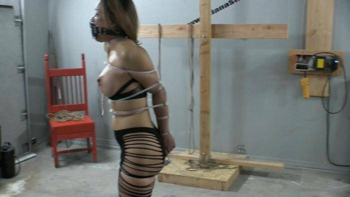 Zip Tied Live Part 1 - Breaking in the New Muzzle Gag [FullHD, 1080p] - Asianastarr.com