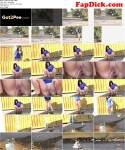 G2P: Public Amateur Pee Outdoor - Video Tan Boots (15.01.2016/FullHD)