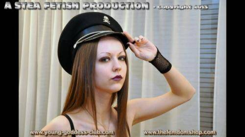 Young-Goddess-Club.com - Goddess Arella, Slave Richard [The Little Pest (ballbusting Action)] (HD 720p)