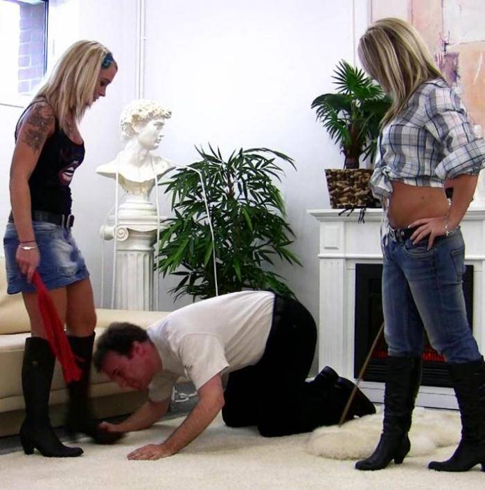 SadoSisters.com - Layla, Jane - Humiliating Pony Training and brutal Trampling   [HD 720p]