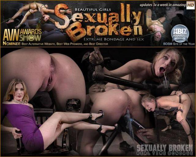 SexuallyBroken.com/RealTimeBondage.com - Stunning Mona Wales dicked down by BBC in tight bondage, massive squirting multiple orgasms! [SD, 540p]