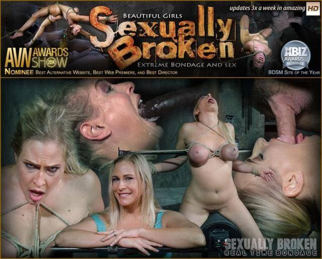 SexuallyBroken.com/RealTimeBondage.com - Fast paced Angel Allwood BaRS show with breast bondage, relentless sybian orgasms and BBC [SD, 540p]