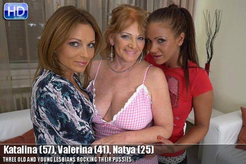 Katalina (57), Valerina (41), Natya (25) - Group lesbians sex! [SD] - Mature.nl, old-and-young-lesbians