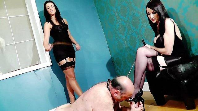 Mistress Jessica - Double Domme Session with her old slave [HD] - Clips4Sale