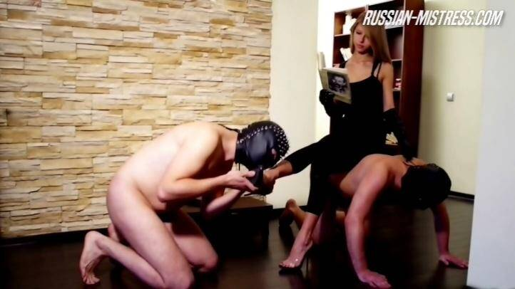 Russian-Mistress.com: Abby and Her Two Slaves [HD] (699 MB)