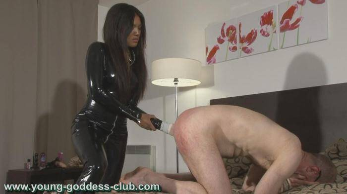 Young-goddess-club.com - GODDESS RACHEL AND SLAVE RICHARD - YOUNG FEMDOM PART 2 (Strapon) [HD, 720p]