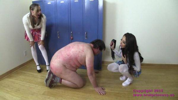 Jennifer and Sasha - Brutal Whipping of Janitor by Mean Brat Princess Students (BratPrincess.us/Clips4Sale.com) [HD, 720p]