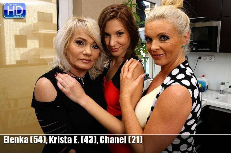 Elenka (54), Krista E. (43), Chanel (21) - Hot three lesbi - 20330 [SD] - Mature.nl, Old-and-Young-Lesbians