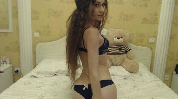 Anorexia: Skinny Young Angel Millajo - Innocent pleasure! Amateur Masturbation on Webcam! (20.01.2016/SD)