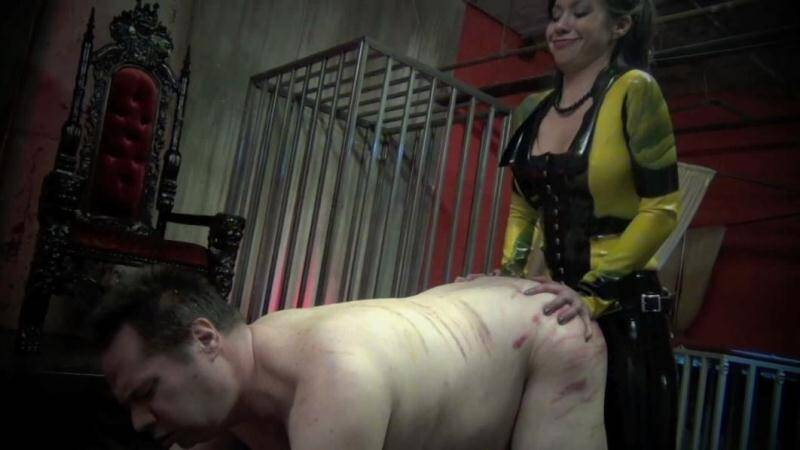 EXTREME FEMDOM: Cruel Mistress Asian fucked in the ass hole fat old slave [HD] (285 MB)