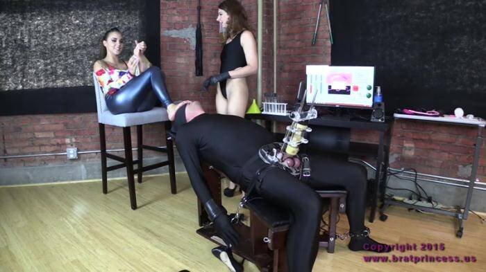Bratprincess.us/Clips4Sale.com - Teen Domina - Cow Forced To Drink Contents Of Enema Bag (Femdom) [HD, 720p]