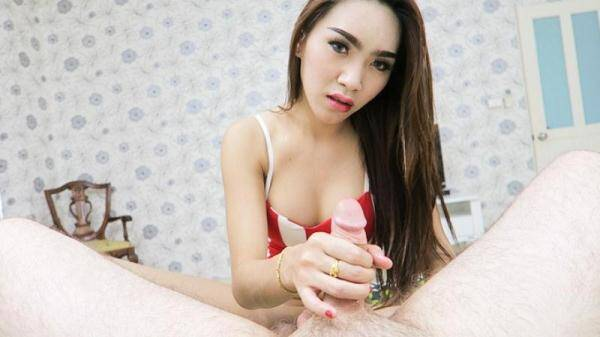 Emmy 2 - Denim Short Candy Top Barebacking HJ (LadyBoy Gold) [HD, 720p]