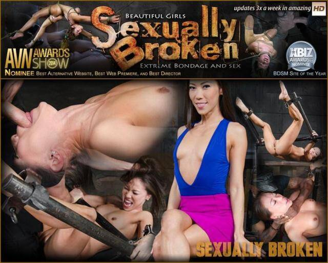 SexuallyBroken.com - Legendary Kalina Ryu bound and used hard in classic fuck me position with facefucking and vibrators! [SD, 540p]