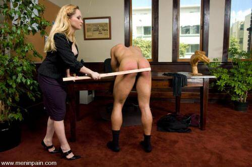 Aiden Starr and Lobo - The Boss's Office [HD, 720p] [MenInPain.com] - FemDom