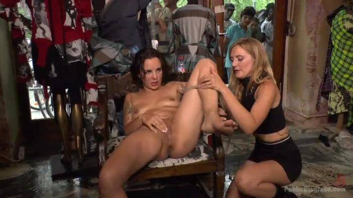 PublicDisgrace.com - Porno Virginty taken with a Public Double Penetration / 38757 (BDSM) [SD, 360p]