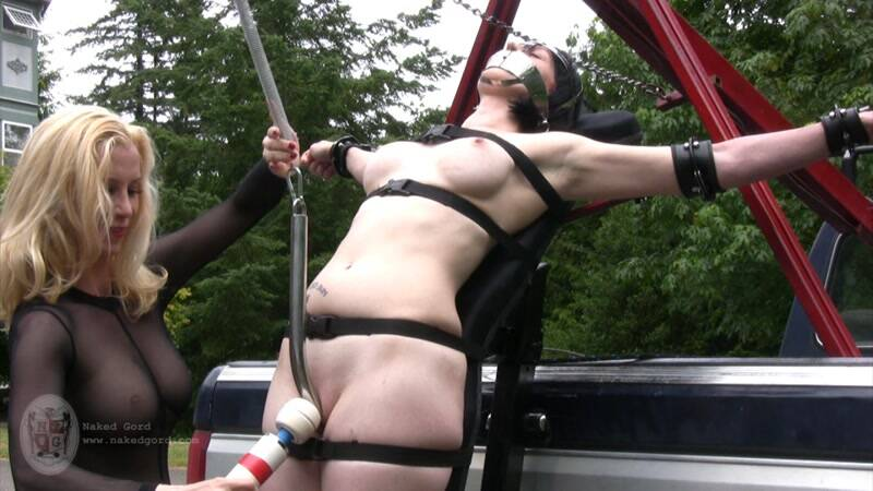 Nakedgord.com: Tied to the truck - Part 2! Masturbate with Toy! [HD] (158 MB)