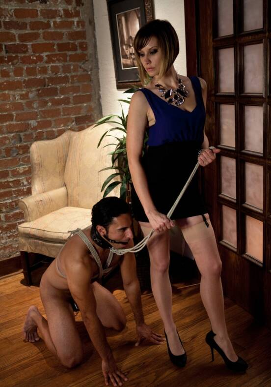 DivineBitches - Maitresse Madeline, Gianni Luca - Maitresse Madeline cuckolds her boyfriend with a woman! [2010 HD]