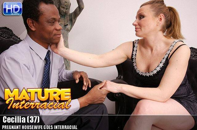 Mature.nl: Cecilia (37) - Pregnant Housewife Goes Interracial [HD] (730 MB)