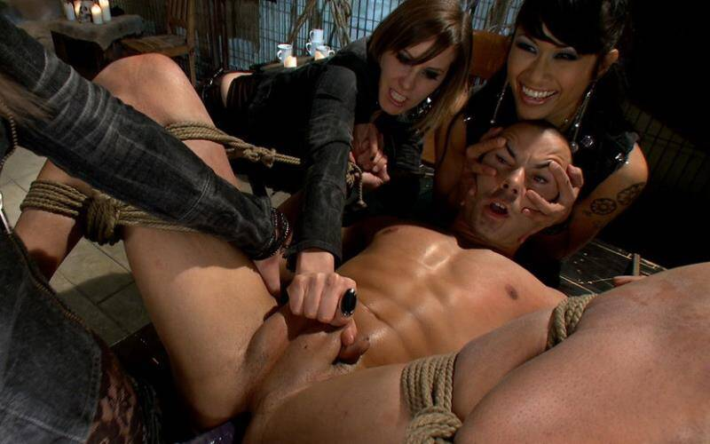 DivineBitches - DragonLily, Bobbi Starr, Maitresse Madeline and Nikko Alexander - A Man With Three Balls Means One For Each Domme! [2010 HD]