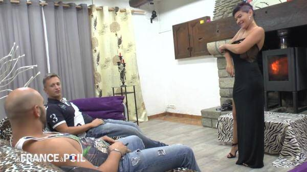 Huge boobed mature slut gets her ass hammered and double teamed by her neighbors (NudeInFRANCE.com) [HD, 720p]